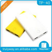 China supplier promotional 4000mAh portable power bank for smartphone