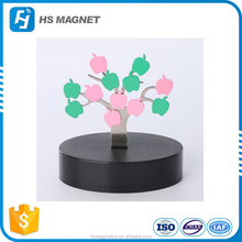 Magnetic sculpture desk toy with stainless steel tree leaf stress relief office magnet supplier in China