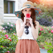 Top Quality New Fasion Women Peacock hat Butterfly Knot Summer Paper Straw Hat