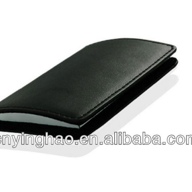 Genuine Leather Case Book Business Name Credit ID Card Holder + GIFT