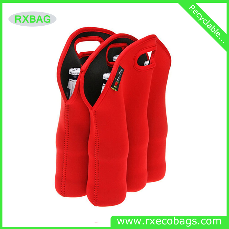High Quality Diveided Neoprene Wine Totes Single Double Wine Totes 6-pack Tote Bag