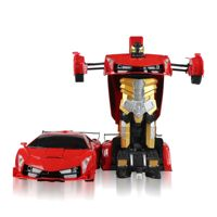 Factory direct supply 2.4G rc electric deformation robot toy car for kids