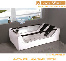 new design massage whirlpool 3 person round sitting bathtub