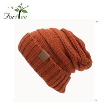 Top quality fashion simple style custom logo cheap funny knit winter beanie hats