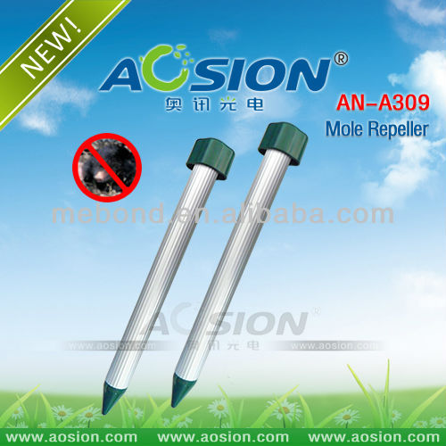 Aosion Aluminum Tupe Vibrating Gopher/Mole Repellent