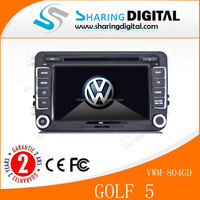 SharingDigital fuly touch screen with red backlight dvd car audio navigation system for vw golf 5