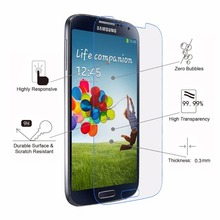 Anti shock tempered glass screen protector for samsung galaxy s4