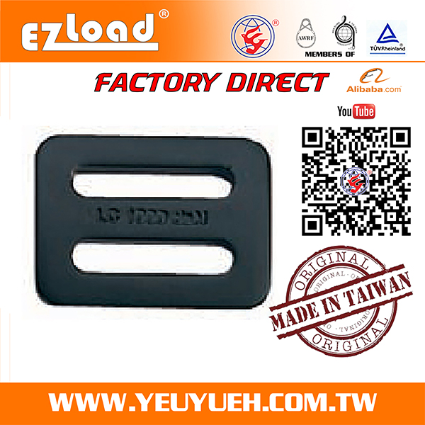 [EZ LOAD] Stainless Steel Slide Belt Buckle for Polyester Webbing
