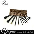 12pcs Leopard bag Makeup Brush Set