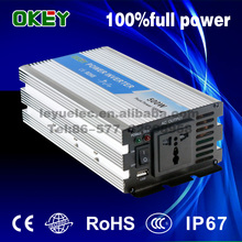 CE ROHS 500watt single phase 12v dc to ac 110v/220v off-grid Pure sine wave solar system/home use/motor power inverter
