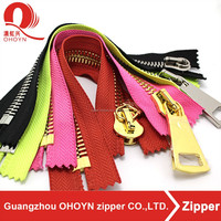 OHOYN best price high quality clothes european metal zipper