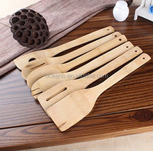 Bamboo Cooking Utensils Wooden Spoon For Cooking Kitchen Tools&Wooden Kitchenware 6Pcs