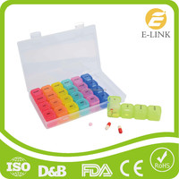 Portable 7 days Rainbow Plastic Pill Organizer