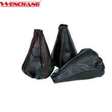 W00038 universal manual PVC leather gear shifter shift knob boot covers