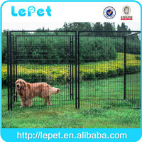 Heavy duty outdoor welded wire mesh large dog cage for sale