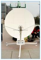 1. 2 meter ku band portable communication antenna
