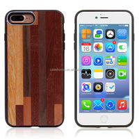 For iPhone 7 7plus printed wooden grain stick PU leather skin case with magnet can absorption the holder