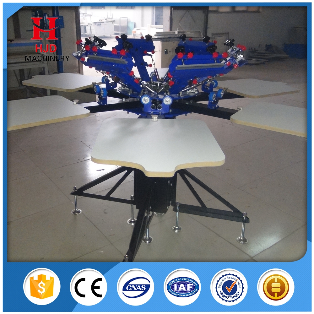 4 6 8color/4 6 8station Double Wheel Overprint Manual Screen Printing Machine /Silk Screen Printing Machine for sale