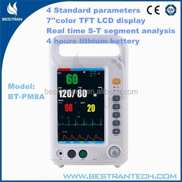 BT-PM8A CE ISO Approved mini patient monitor, 4 parameters medical clinic equipment