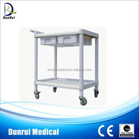 DR-322B Movable Two Drawers ABS Medicine Trolley