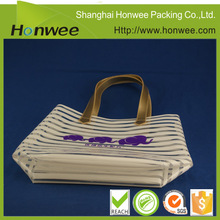 high quality striated handle bag two sided shoulder bag silicone rubber beach bag