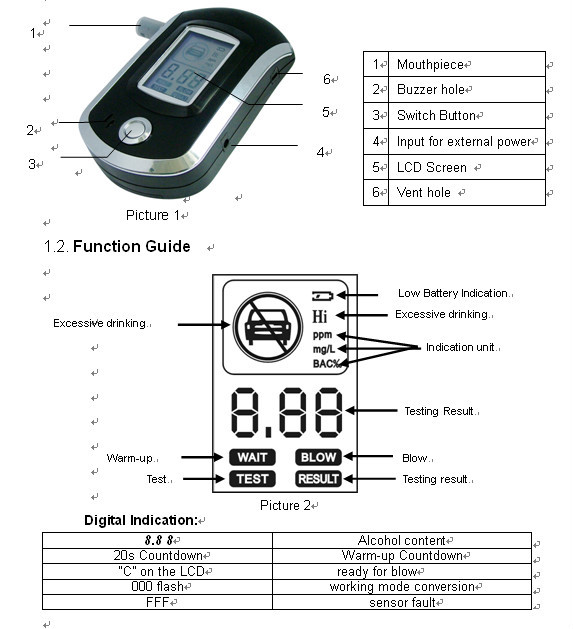 Factory Direct Sales All Kinds Of Digital Breath Alcohol Test