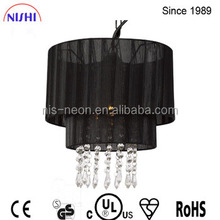 CE,UL approved hot selling light black pendant light /fabric pendant light,non electric light for indoor decoration NS-120091D