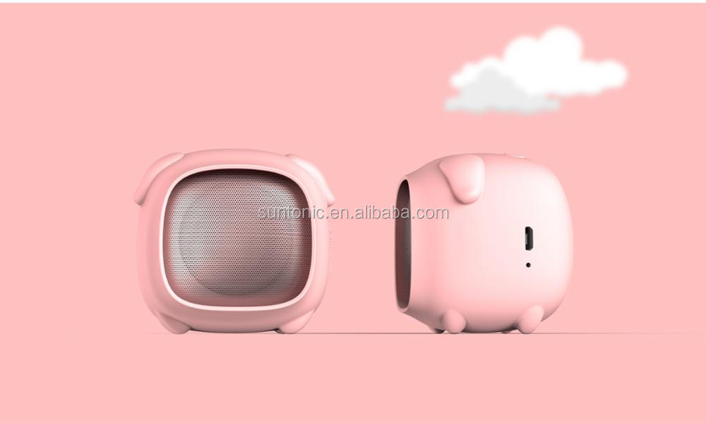 2017 Christmas Gift Portable Cantoon Bluetooth Speaker with Rubber Case and different Cute Face