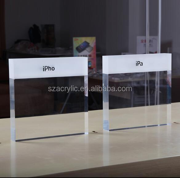 display logo/brand acrylic solid block holder