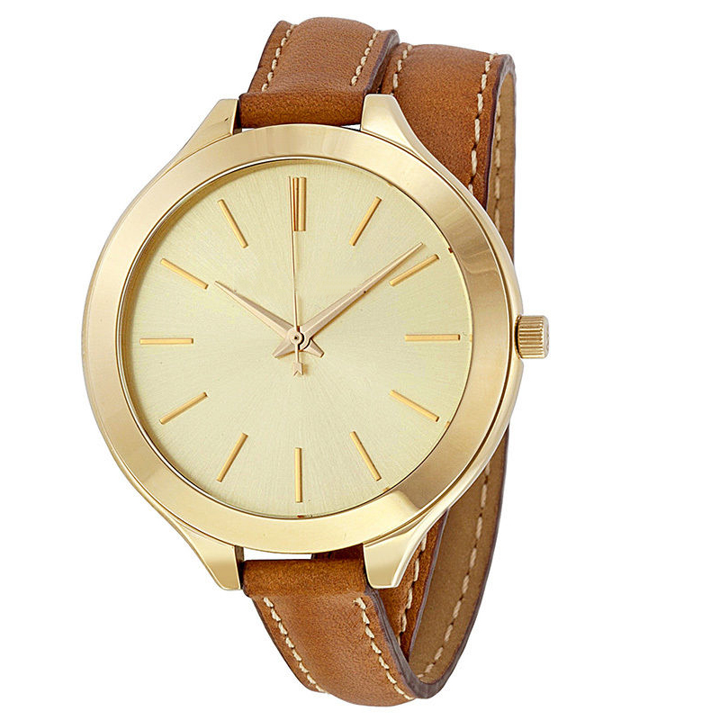 Colors Long Leather Straps square studed stiching Make Your Own Logo Various 22k gold watch