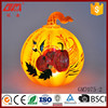 wholesale glass halloween pumpkin with LED