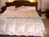 100% silk floss goose down filled quilt/comforters