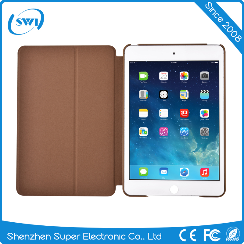 2016 Aliexpress hot sell leather back cover case for ipad mini 4,new full protective back cover case stand for ipad mini 4