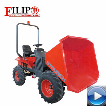 Hot sale high quality dumper with best price for farm garden transporting mining equipped with famous engine from Japan kubota