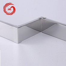 Smooth surface stainless steel skirting board for kitchen cabinet kick board