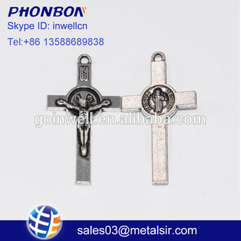 Jewelled Christ Metal Cross