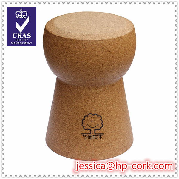 Spain cork ottoman champagne shape