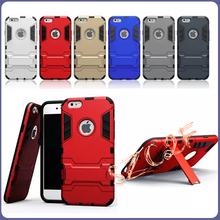 Hot Selling PC+TPU Iron Man Belt Clip Cell Phone Case for iPhone6s plus,6plus Robot Mobile Case