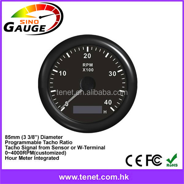 Universal Electric Stepper Motor Tachometer , RPM Programmable , 85mm Installation Size