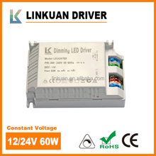 led power supply 12v 60w 24v power supply 24v dc LKAD078D with CE approval for LED Neon flex lights