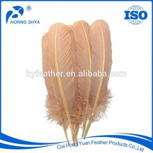 Alibaba Horng Shya Manufacturer Factory Directly Free Sample High Prime Quality Golden Eagle Feather