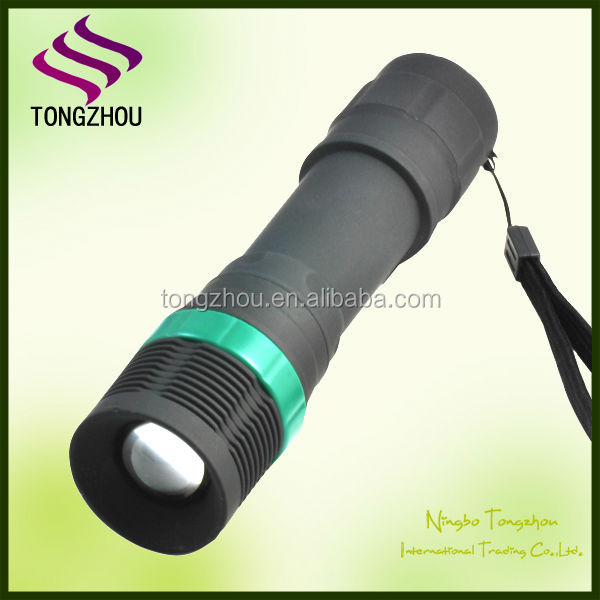 Factory Custom Made Plastic LED cree Focusing LED Flashlight