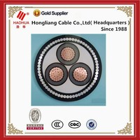 3.6/6 kV na2xs(f)2y 185 mm XLPE insulated flat steel wire armoured, three core copper cables