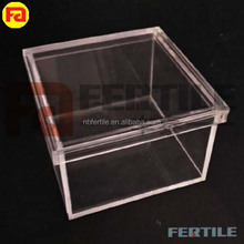 XQF 2018 Top Quality Fashion Cosmetic Jewelry Organizer Plastic Clear Square Cosmetic Jewelry Storage Box