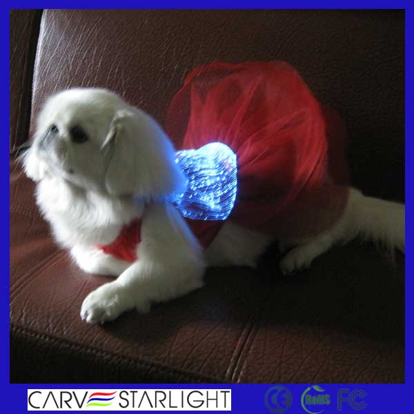 2015 fashion luminous fiber wholesale chinese dog clothing