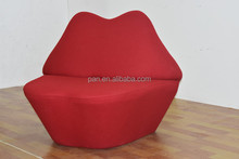 Replica classical modern home furniture Mae West red Lips kiss Sofa Chair
