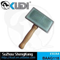 2015 hot new pet products wood handle slicker brush for dogs