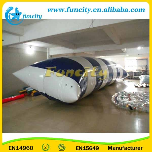 Black and White Inflatable Water Blob Water Park Toys In Hot-welding Machine