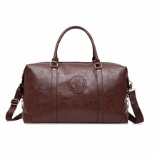 Wholesale travel leather duffel Bag, leather holdall weekend gym travel bag