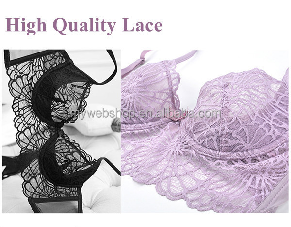 Super Thin Cup High quality Chemical allover Lace Hot Images Women Sexy Bra Underwear